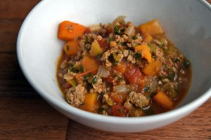 Naked Ground Turkey and Butternut Squash Chili