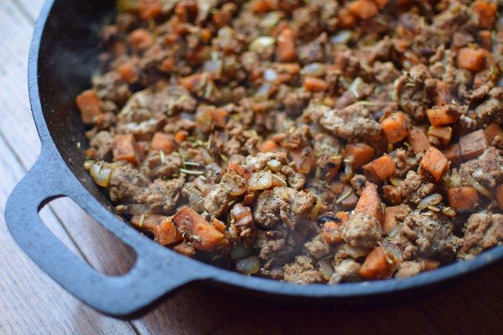 Sweet Potato and Turkey Skillet