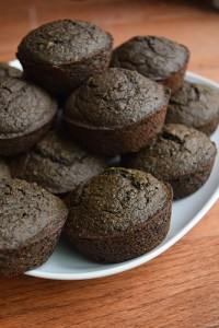 Chocolate-Kale Banana Muffins