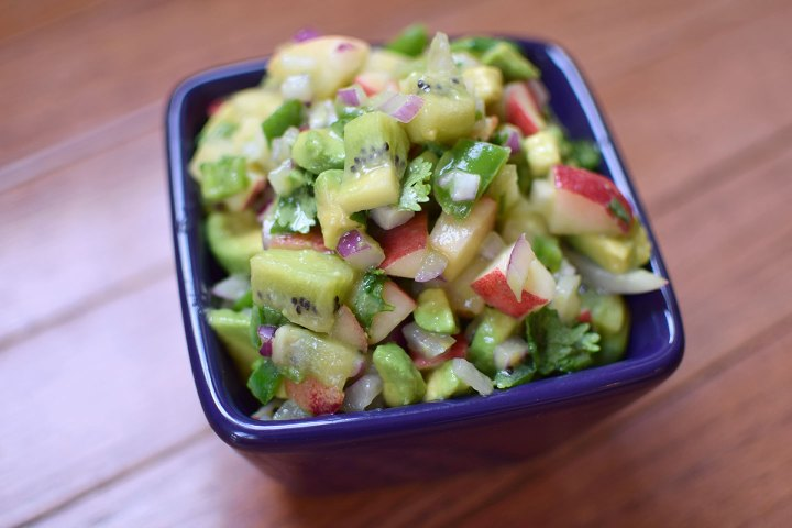 Kiwi and Nectarine Salsa with Avocado