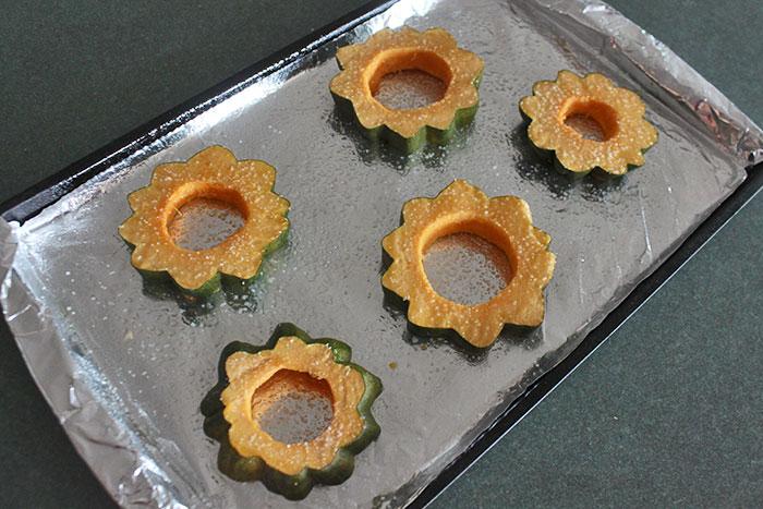 Acorn rings before cooking