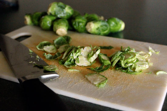 Warm Brussels Sprout and Couscous Salad - step 1