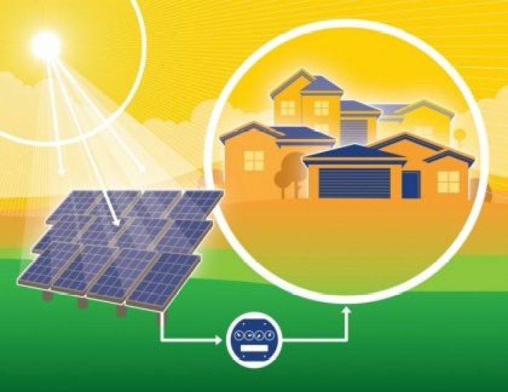 Image information: Shared solar projects allow consumers to take advantage of solar energy's myriad benefits, even though the system is not located on the consumer's own rooftop. | Photo courtesy of the Vote Solar Initiative