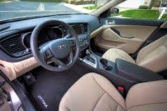 Interior Kia Optima hybrid EV