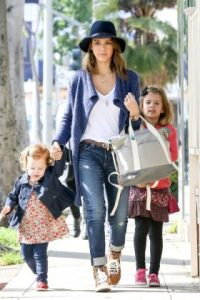 Jessica Alba and her young ladies have a Fun Filled Sunday