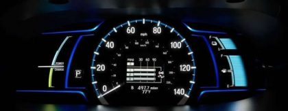 dashboard gauge Honda accord plugin hybrid