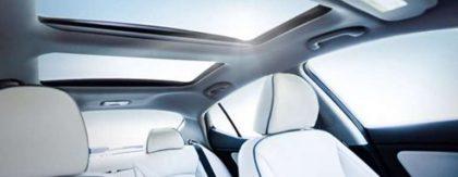 The interior of the Kia Optima hybrid was no joke