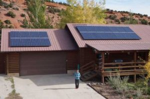 The Copelands' home solar project. Photo: Creative Energies