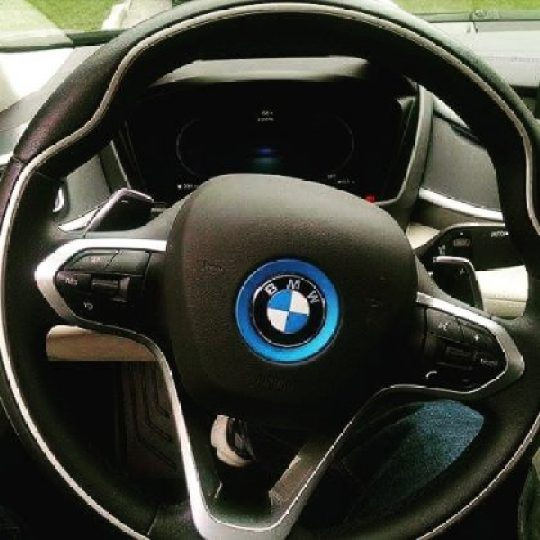 BMW i8 plugin hybrid steering wheel