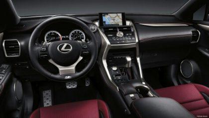 2015 Lexus NX 300h Hybrid Electric Car interior