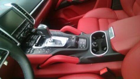 Green car Interior of Porsche Cayenne Plugin E-hybrid