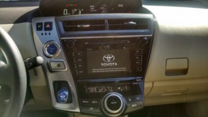 Toyota Prius v 2016 front dashboard