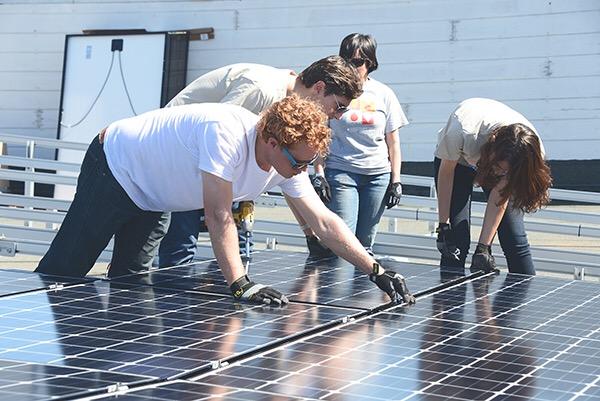 sustainable buildings professional development program Solar install