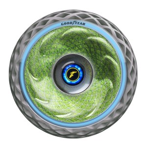 Goodyear's latest concept tire, introduced at the 2018 Geneva International Motor Show, quite literally brings the future of mobility to life as a visionary solution for cleaner, more convenient, safer and more sustainable urban mobility.
