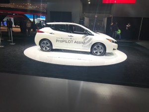 Nissan Leaf at NYIAS, New York international auto show