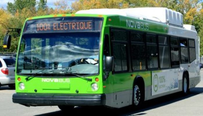 Nova Electric buses. The Government of Canada is encouraging widespread adoption of electric vehicles by supporting innovative projects that provide more options to drive clean.