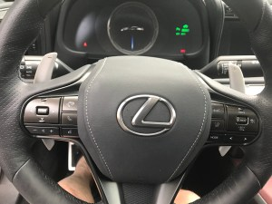 Lexus LC 500 h steering wheel and console