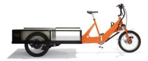 The UPS® cargo eBike is equipped with a battery-powered electric motor that can travel longer distances than traditional bikes, carry substantial loads and navigate hills and other terrain. The modular, detachable boxes on the trailer can hold up to 400 lbs. and have a 95 cubic foot capacity. The bikes can be operated with human pedal power or battery power, providing drivers with the flexibility they need to navigate changing terrain and energy efficiency.