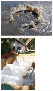 rainwater creating Rain gardens created by Stormwater