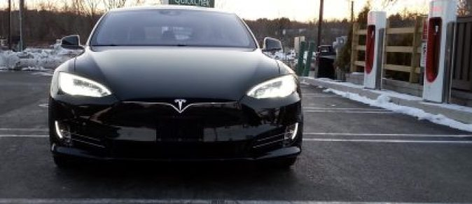 Tesla model S with Lithium-ion technology