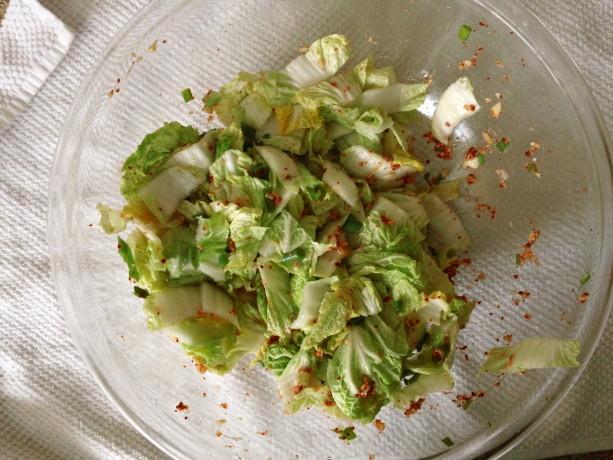 homemade kim chi