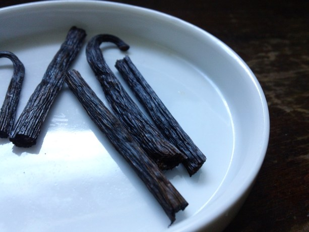 fresh vanilla beans for tea!