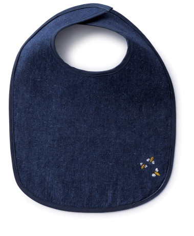 bambu_hemp denim baby bib with bees_small