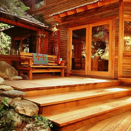 sustainable decking redwood house