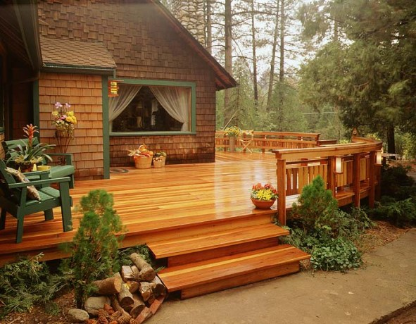mendoco redwood deck