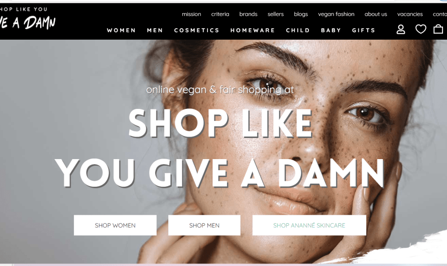 Shop Like You Give A Damn, the new online platform for vegan & fair shopping