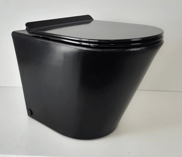 Green Loo - Helsinki Black Pedestal toilet for composting toilets in New Zealand