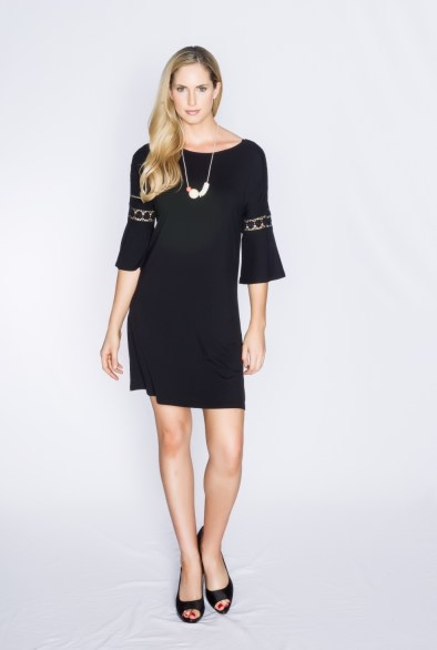 Black linen dress by Santorini - a brand of Zhai, Singapore's first eco-friendly and vegan fashion label