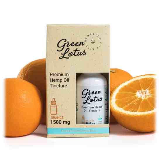 Green Lotus Hemp Tincture Orange 1500mg CBD