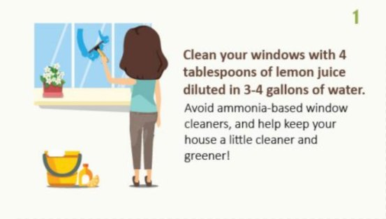 natural way to clean a home's windows