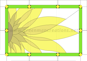 Abstract Sunflower Window