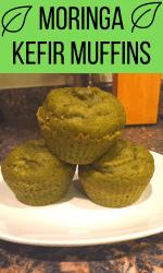 moringa kefir muffins