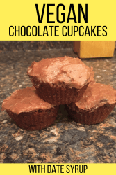 vegan chocolate cupcakes with date syrup
