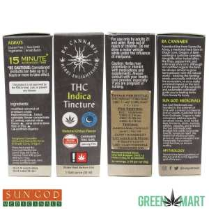 Ra Cannabis THC Indica Tinc