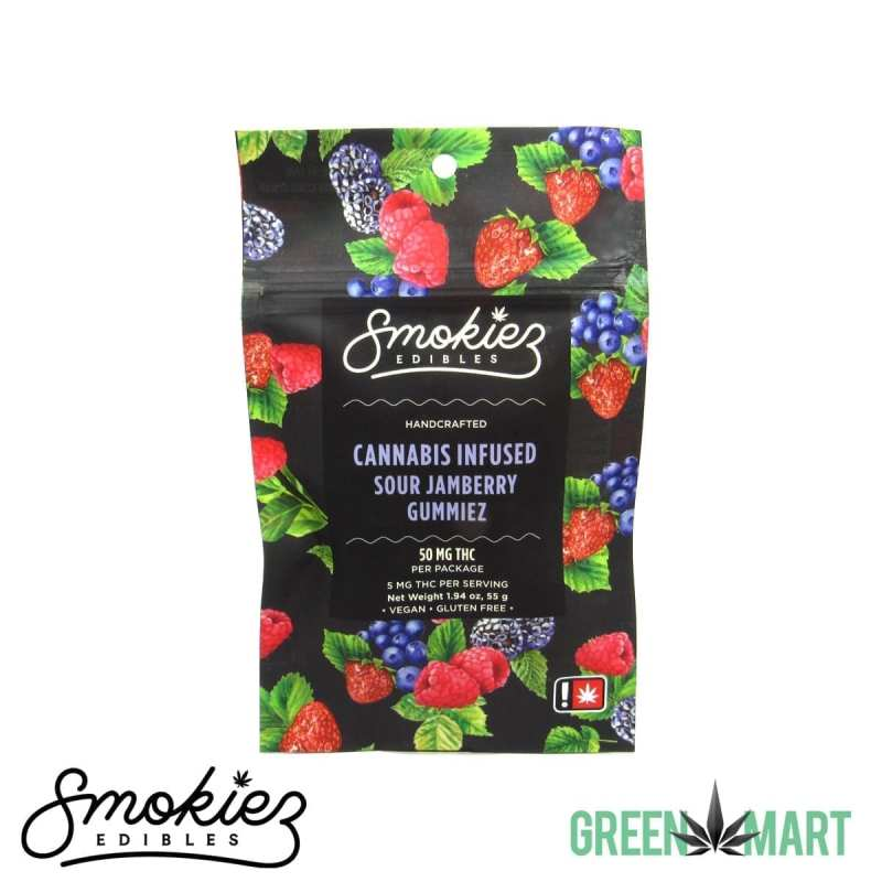 Smokiez Edibles THC Gummies - Sour Jamberry