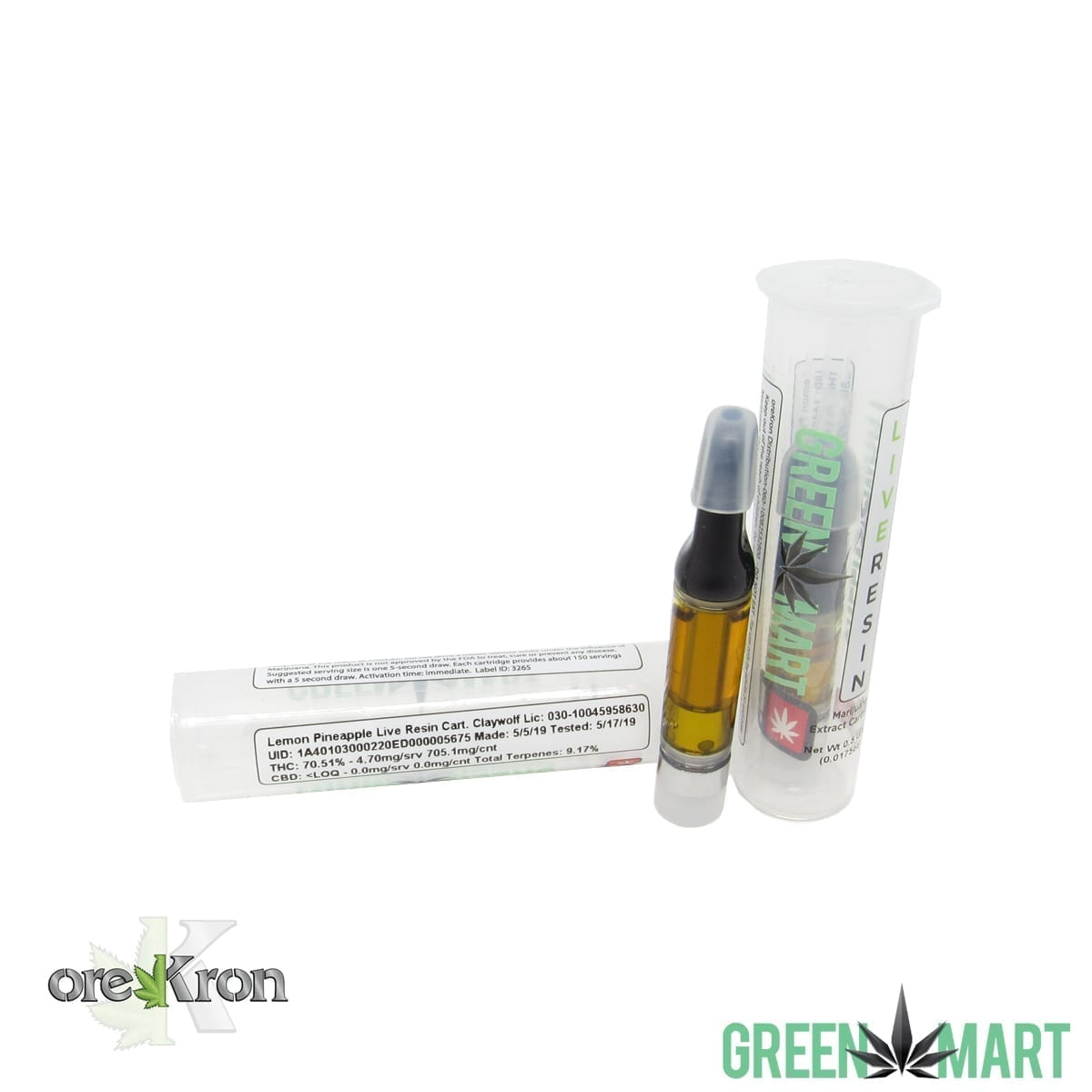Green Mart Live Resin Cartridges – Lemon Pineapple