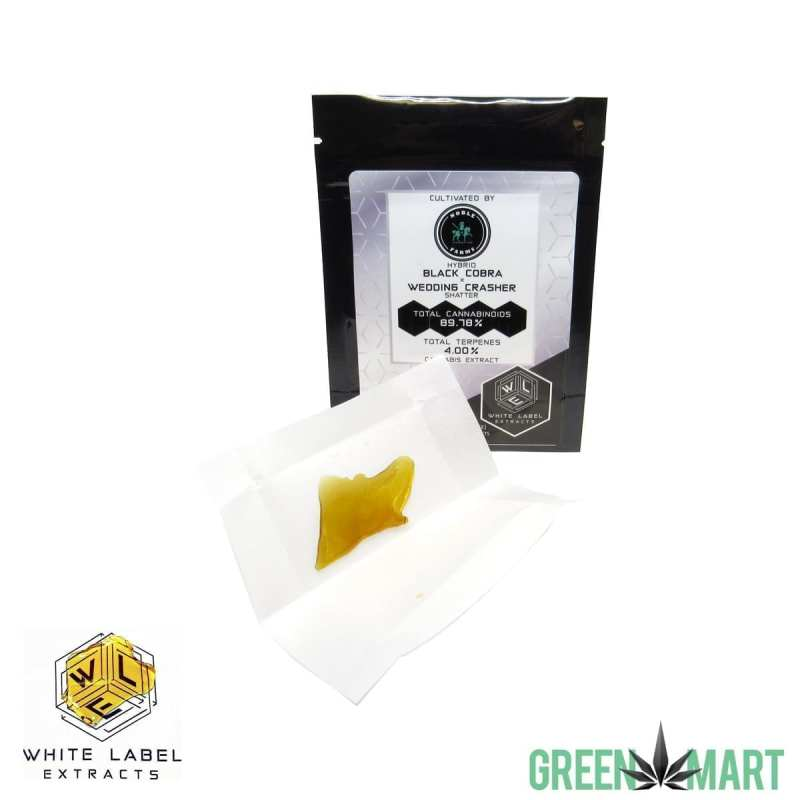 White Label Extracts - Black Cobra x Wedding Crasher Shatter