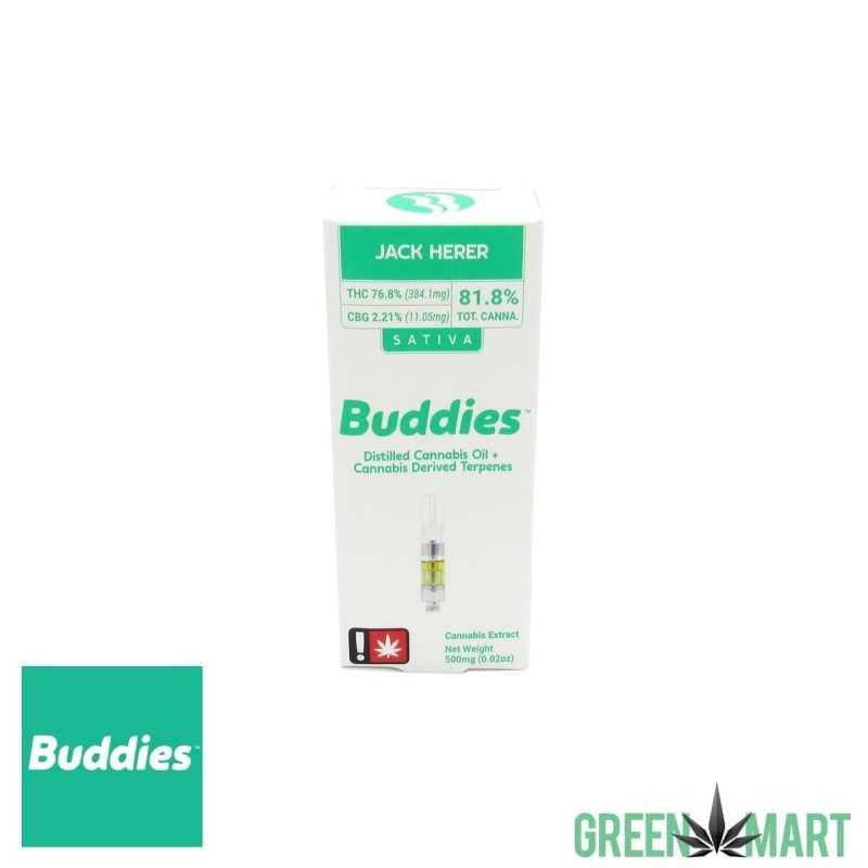 Buddies Distillate Cartridge - Jack Herer Half Gram