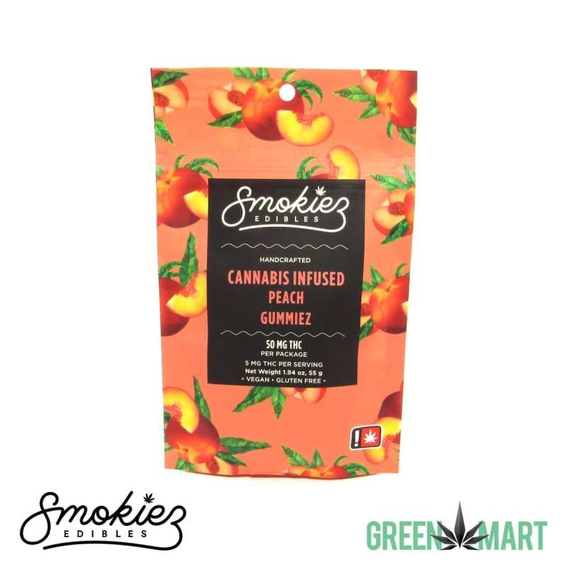 Smokiez Edibles THC Gummiez - Peach Front