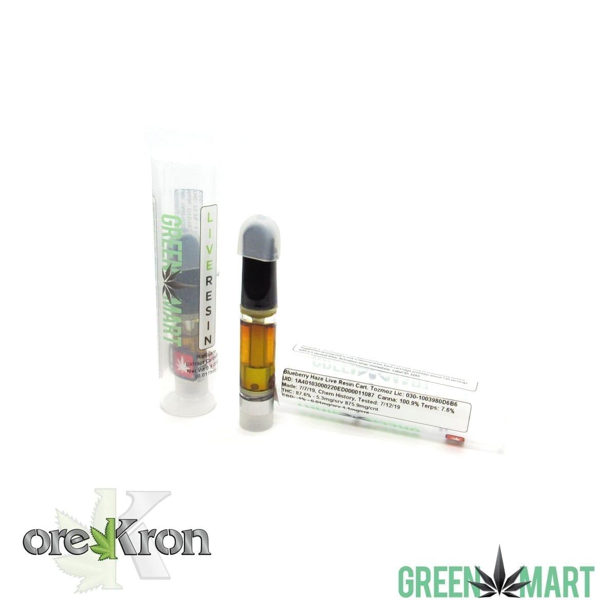 Green Mart Live Resin Cartridges – Blueberry Haze