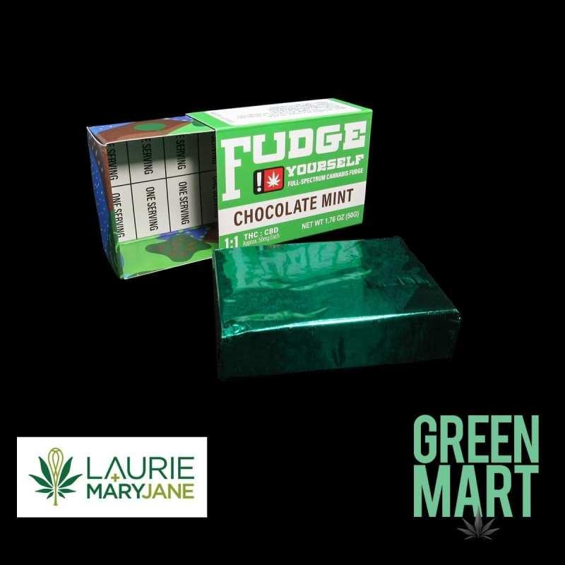 Laurie + MaryJane Fudge Yourself - Chocolate Mint One:One Fudge Front