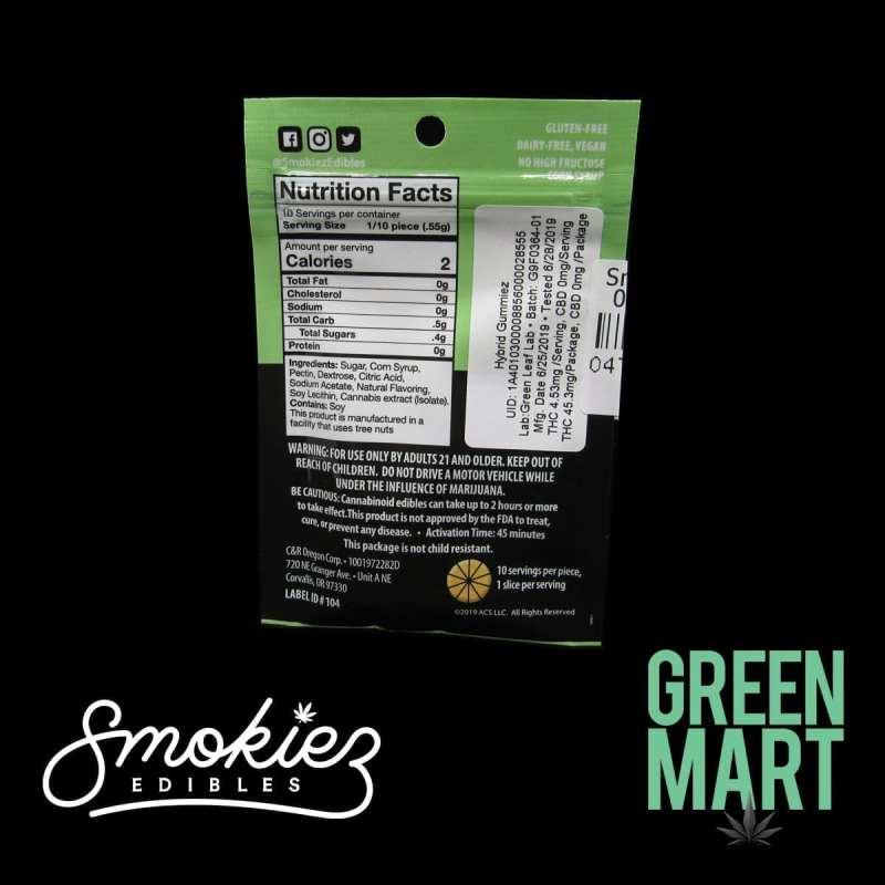Smokiez Edibles - Grapefruit Single Back