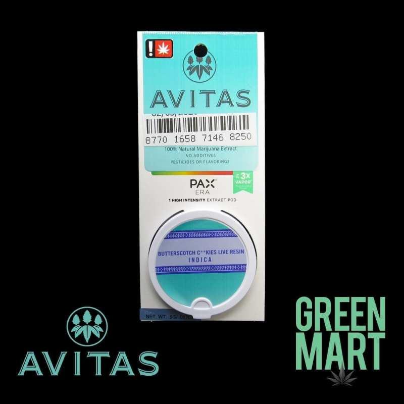 Avitas Pax Pod - Butterscotch Cookies Front