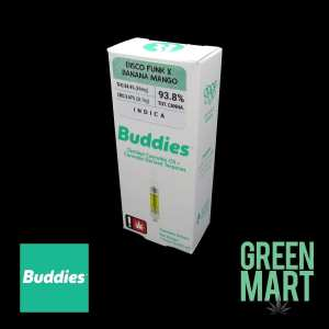 Buddies Brand Distillate Cartridge - Disco Funk x Banana Mango