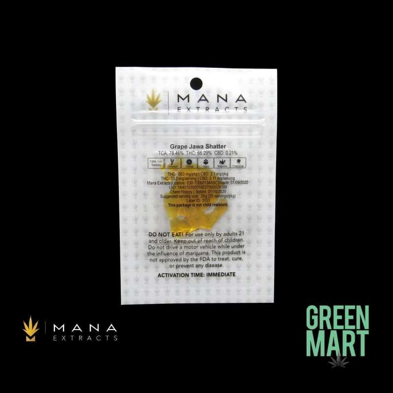 Grape Jawa Shatter by Mana Extracts