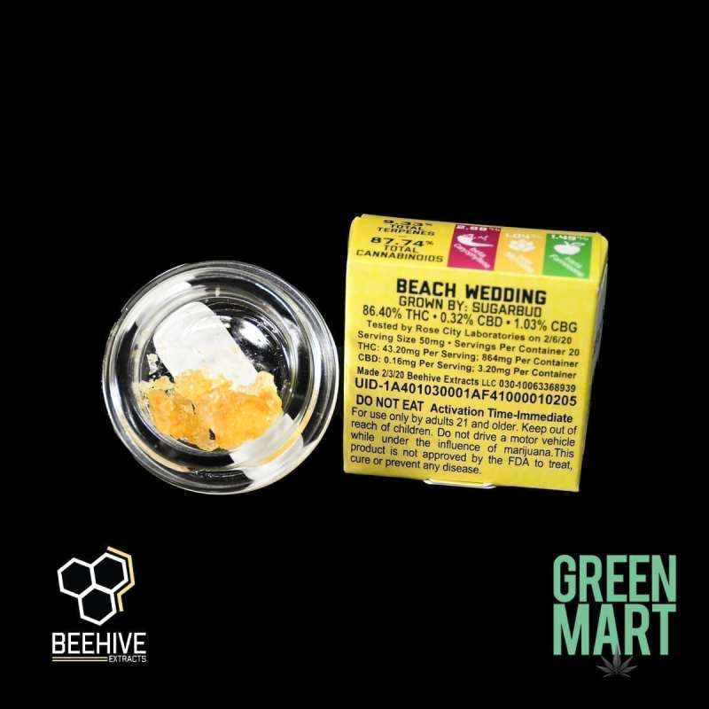 Beehive Extracts - Beack Wedding Diamonds Back